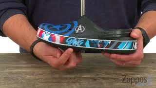 Крокс крокбенд марвел капитан америка М12-29см   Marvel x Crocs Crocband™ Captain America Clog black/blue jean крокбэнд - видео 1