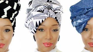 037Collection | 4 Easy Head Wrap Styles | Ankara, Denim & Knit Head Wraps