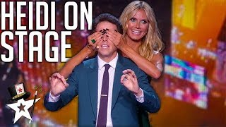 Magicians Bring Heidi Klum To The Stage on America