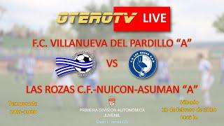 R.F.F.M. - Jornada 21 - Primera División Autonómica Juvenil (Grupo 1): F.C. Villanueva del Pardillo 1-0 Las Rozas C.F.-Nuicon-Asuman.