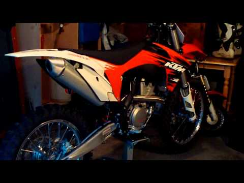 KTM 350 SX-F 2011 first start up