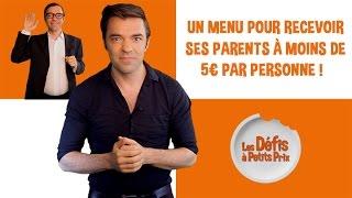 Menu pour recevoir ses parents à 5 € par personne - Défis à Petits Prix