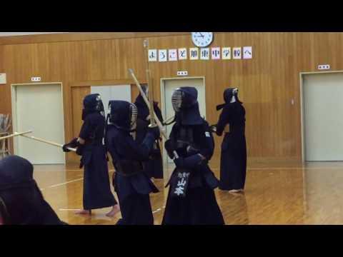 2017/03/13 旭東中学校 中学生稽古の様子No.7