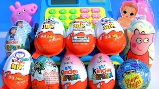 Peppa Pig Kinder egg Surprises Stacking Cups Nickelodeon Lets go Shopping