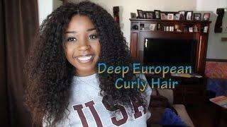 European Deep Curly Hair Dyhair777 Final Review