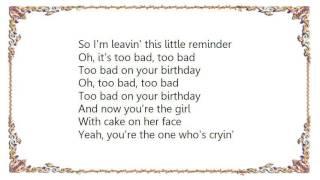 Joan Jett - Too Bad on Your Birthday Lyrics