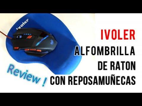 iVoler Alfombrilla de Ratón Gaming con Reposamuñecas de Gel  | UnBoxing  Review Español