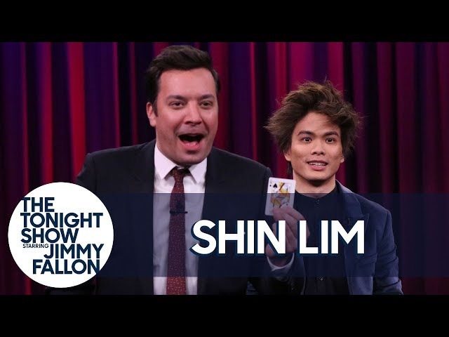 Shin LimMakes Pieces of a Card Disappear and Reappear for Jimmy and Questlove