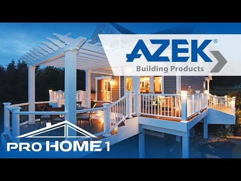 Pro Home 1 installs and will design a AZEK deck which stands up to harsh weather, staining and fading.