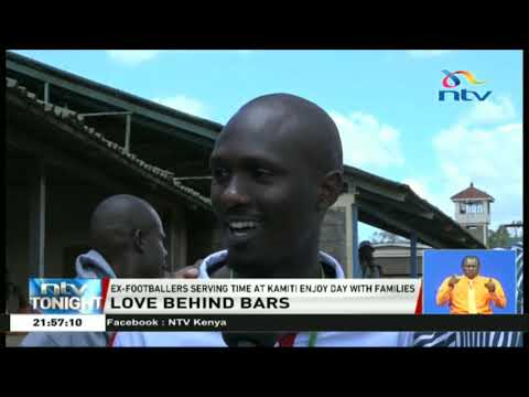 Ex-footballers serving time at Kamiti enjoy Valentines Day with families