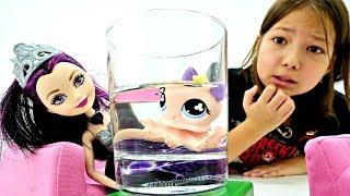 Куклы Эвер Афтер Хай разбирают вещи своих питомцев. Игры для девочек