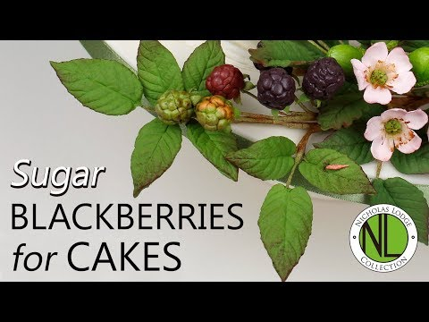 Make Sugar Blackberry Leaves | Cake Decorating Tutorial With Chef Nicholas Lodge