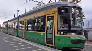 preview picture of video 'Transtech Artic Tram @ Helsinki Autumn 2014'