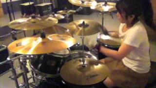 "ARCH ENEMY ""Blood On Your Hands"" Drumcover - Fumie Abe -"