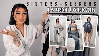 SISTERS AND SEEKERS TRY ON HAUL HAUL | I SPENT OVER £1K...
