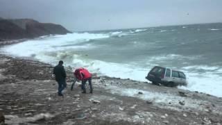 владивосток, весна, патрокл, море, волны и автомобиль