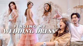 TRYING ON WEDDING DRESSES!! ❤️👰🏻 | nicolechangmin