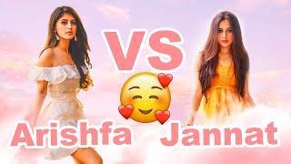 Arishfa Khan vs Jannat Zubair TikTok Compilation