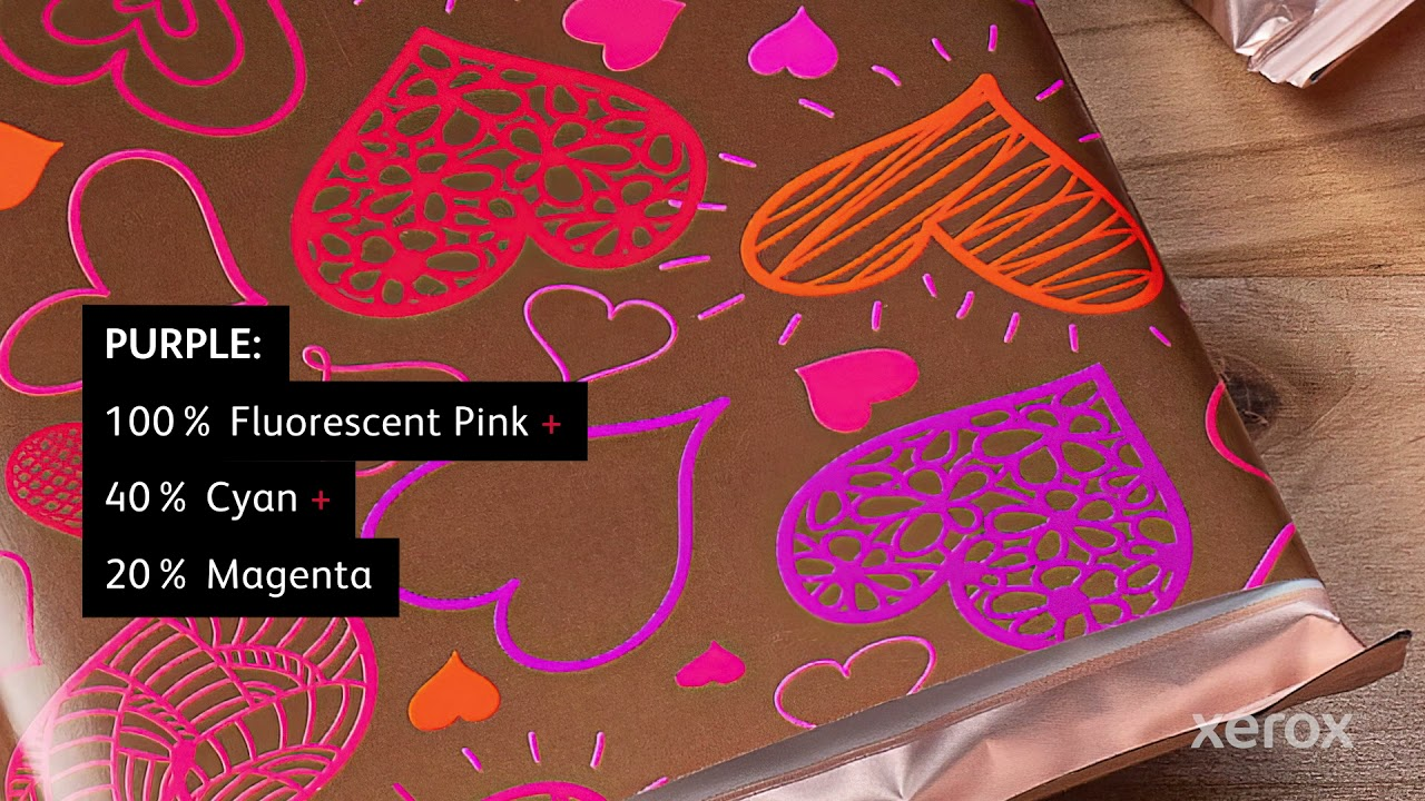 Xerox® Iridesse® Production Press: Designing for Fluorescent Pink Blends YouTube Video