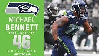 #46: Michael Bennett (DE, Seahawks) | Top 100 Players of 2017 | NFL