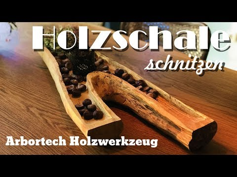 Deko Holzschale aus Astgabel gefräst Arbortech Holzwerkzeug