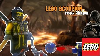 !HOW TO MAKE! Lego Scoprion Custom Minifigure [Mortal Kombat 9] [PlayHunterChan]