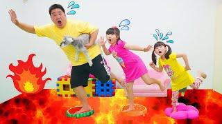 【寸劇】The Floor Is Lava マグマが来た!床が溶岩 Escape To Lava - はねまりチャンネル