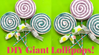 DIY Fake Lollipops - How To Make Yarn Lollipops - DIY Yarn Lollipop Tutorial