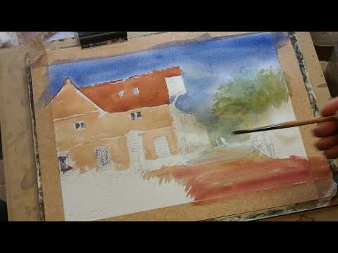Thumbnail of Artist Painting, Flatford Mill. Watercolour demonstration.