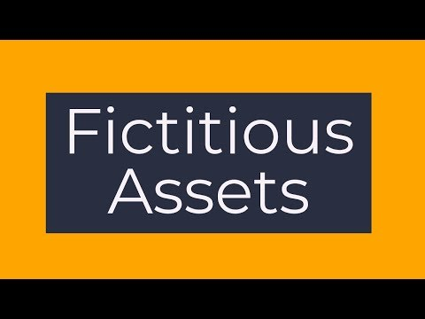 Fictitious Assets - Meaning | What are fictitious assets? - Class 11/12