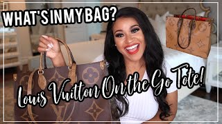 Whats In My Bag? | Louis Vuitton On The Go Tote! NitraaB