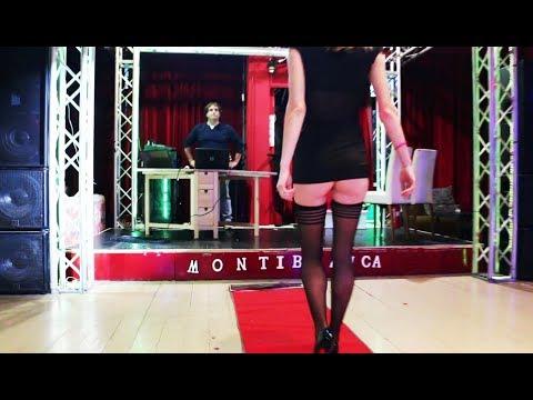 """Giuly sfila in sexy  mini-abito e autoreggenti al """"Montiblanca Disco-Club"""" per """"Top Fashion Couture"""""""