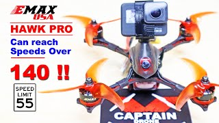 One of the FASTEST FPV Drones! Emax Hawk Pro - Top Speed Video - GoPro Mount