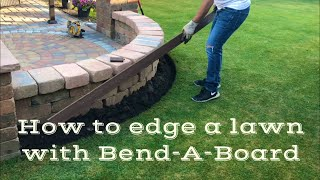 How to edge a lawn with Bend-A-Board