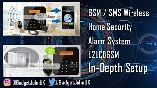 LTLCDGSM Wireless Home Security Alarm with GSM dialler/SMS with RFID & phone App - In-depth Setup