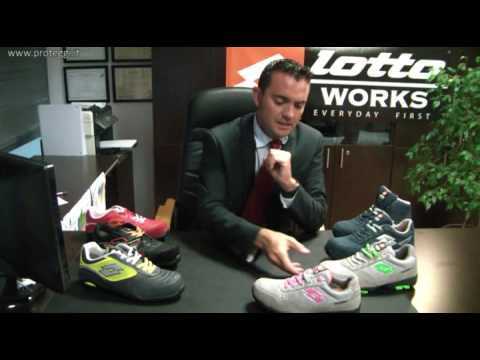 video scarpe antinfortunistiche lotto works proteggi srl