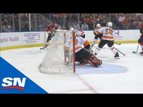 Brett Connolly Scores From Behind Goal Line By Banking It Off Carter Harts' Mask