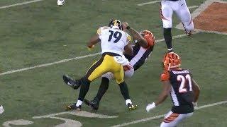 JuJu Smith-Schuster Vicious Block on Vontaze Burfict | Steelers vs. Bengals | NFL