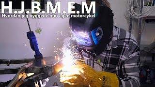 Hvordan jeg byggede min egen motorcykel DEL 2 - svejser ny bagende på cyklen !
