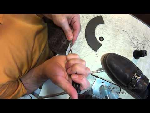 Необычные заплатки. Мокасины Louis Vuitton. Ремонт обуви.