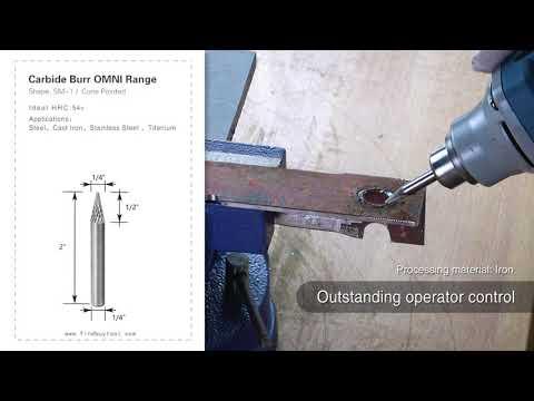 FindBuyTool carbide burr burr sm-1 cono con punta de punta omni gama cabeza d 1/4 x 1 / 2l, 1/4 Shank, 2 pulgadas de longitud completa