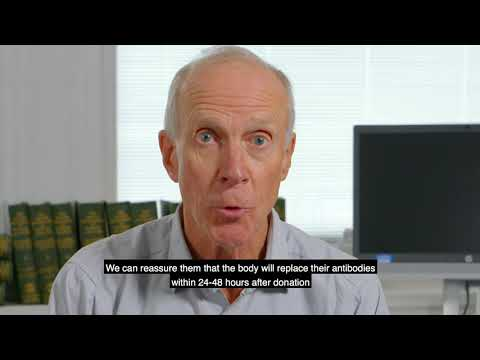 Does donation reduce your antibody levels? – YouTube Video