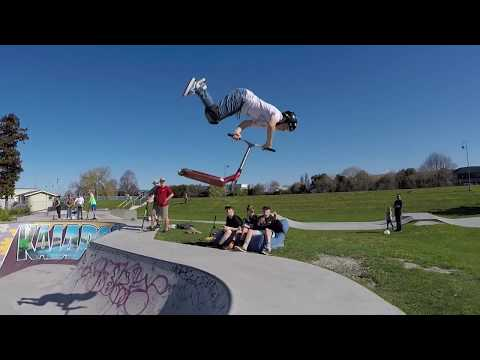 Scooter Tricks - Down at Kaiapoi Skatepark