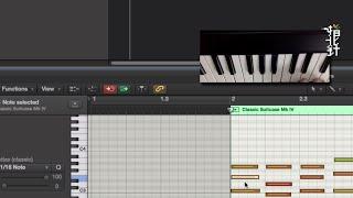 使用 MIDI 鍵盤編輯音符