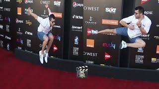 رامز أمير طار على الريد كاربت في سابع أيام مهرجان الجونة السينمائي - GFF