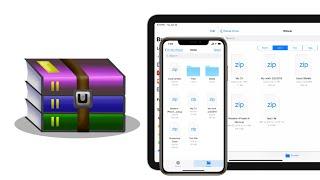 How To Create WinRar (Zip) files on iPhone & iPad