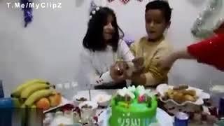 فیلم زلزله هنگام فیلم برداری تولد دختر بچه در کرمانشاه