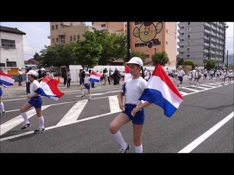 第42回福島市小学校鼓笛パレード 桜の聖母小学校