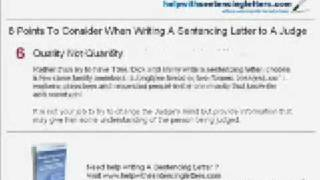 Help on Writing Sentencing Letter to Judge