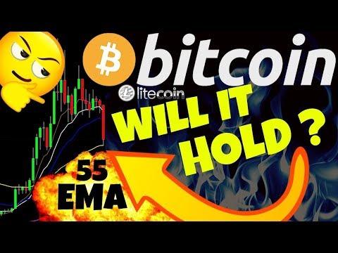 🌟 BITCOIN WILL THE 55 EMA HOLD? 🌟bitcoin litecoin price prediction, analysis, news, trading